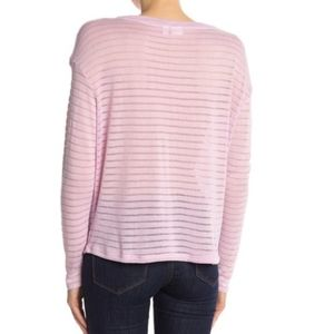 14th & Union Tops - 14th & Union | striped sheer long sleeve knit top